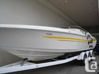 Boat runs flawless and is totally serviced!   800 hp