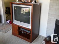 "32"" Panasonic TV with Remote, 34""W x 27'H x 20""D Dark"