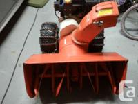 I am selling my 32'' snowblower. It has new engine with
