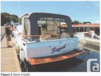 1974 32 foot Fiberglass Express Cruiser. -11 foot beam