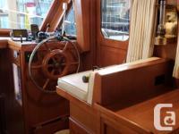 1981 TUNG HWA- CLIPPER Great PNW Sedan Trawler. Single