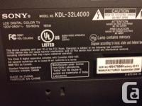"""32"""" HD like new condition rarley used. only reason for"""