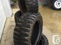 I have 5 Nitto Mud tires for sale. In good condition.