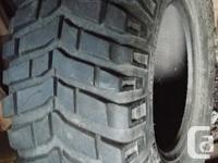 A single mud terrain tire, Lots if tread left. No UV