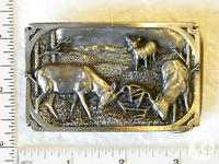 1983 - THE RUTTING SEASON / BELT BUCKLE. PRE-OWNED IN