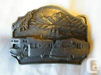1987 - MOTOR HOME / BELT BUCKLE. PRE-OWNED IN GOOD USED