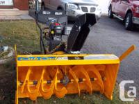 """Cub Cadet"" 45"" Industrial snowblower available."