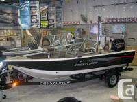 2015 Crestliner 1750 Fish Hawk WT Powered by the all