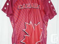 FOR SALE IS A TEAM CANADA CYCLING JERSEY MADE BY PRIMAL