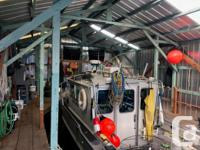 34' Boathouse B-36 at Van Isle Marina Easy waterway