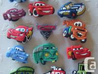Set of 15 Disney Cars Footwear Charms for Crocs or