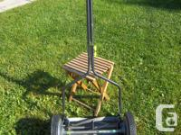 """Earthwise"" 14"" pushmower for sale. Cuts good. 8 1/2"""