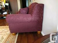 Lovely Burgandy, Like new loveseat sofa bed, the