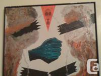 New Signed, Framed, Acrylic on Canvas Painting entitled