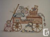 Express Wagon w/ friends in repainted on watercolor