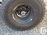 """2 35"""" tires and 4 rims. Rims are 15""""�10""""wide 5x5.5"""""""
