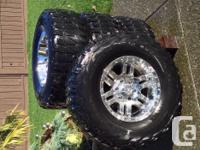 "35""x12.5""x17"" Nokian Vativa Mud Surface Tires."
