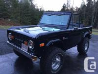 1973 Ford Bronco nicely restored. The body was removed