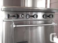 American Range 6 Burner gas stove Stainless steel