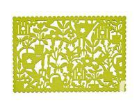 "Set of six Pieces 17"" Polyester Green Garden Icon Table"