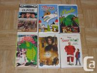 I am selling the follow family VHS movies. They are all