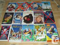 THESE WOULD BE GREAT TO KEEP AT A COTTAGE, ETC. VHS ARE