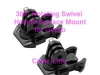360° Rotating Swivel Helmet Surface Mount for GoPro