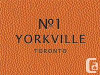 Yorkville Condos Toronto  Welcome to 1 Yorkville The