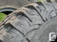 37x12.50r17 pro comp extreme mud terrain tires , used 3