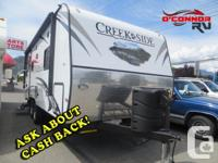 Welcome to the Outdoors in a Creek Side Travel Trailer!