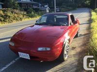 Make Mazda Model MX-5 Miata Year 1990 Colour Red kms