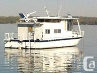 Very versatile river boat style houseboat. Steel hull