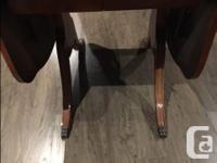 Small 'Duncan Fyfe' dining room table for sale. Folded