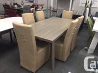 It is a very attaractive dining table in Grey Malamine