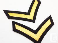 Canadian Military Private DEU Rank Black Wool (Set of