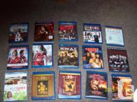 3D BLUERAY, BLUERAY DISCS, DVDS, SLIP COVERS(CARDBOARD