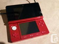 Red 3DS With Nintendo Carry Instance (Comes with