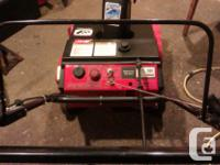 Starts & runs good, coil wire brushed and re-gapped,