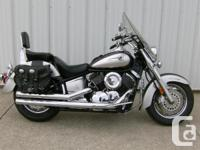 2007 YAMAHA VSTAR 1100 CLASSIC ON THE RIGHT ROAD. You