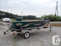 1998 Legend V-149 Wide Body Aluminum Fishing Boat with