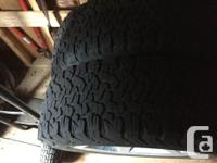 Top rated BFG All Season Radials 275 60 20. Near new