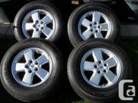 (4) Continental 235/70/R16 on Ford Escape Wheels w/TPMS