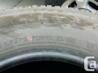 Up for sale is a set of 4 Michelin LTX AT-2 LT275/70/18