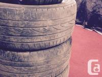 """4 Falken Ziex tires, 225/45Z/R17, 17"""" tires went over"""