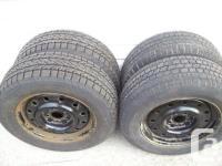 "For sale is a set of 4 winter months 15"" snow tires on"
