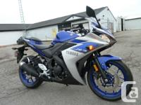 Save big on this 2015 R3Yamaha has raised the bar in