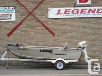 2001 14' Lowe 1467 Tiller, with 2001 Johnson 25 el &