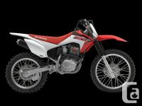 Throw your leg over the saddle of the CRF230F, push the