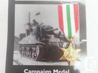 British Military Italy Star Campaign Medal Ribbon