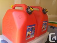 2 LARGE CANS - 20 LITRES EACH 2 SMALL CANS - 10 LITRES